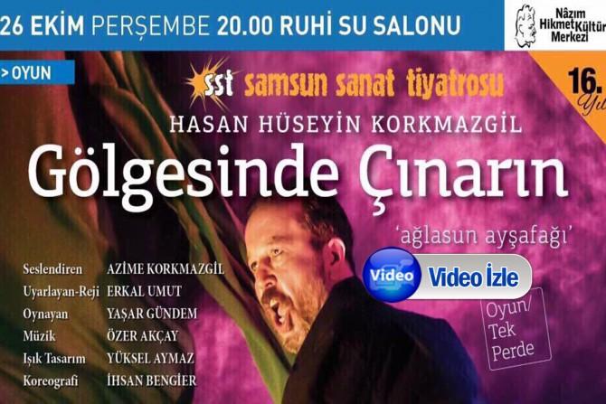 'Gölgesinde Çınarın' oyunu 26 Ekim perşembe günü  Kadıköy'de...