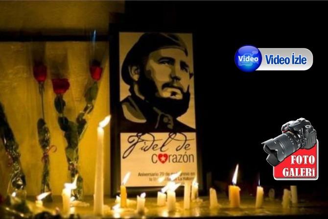 Castro için Küba yasta...