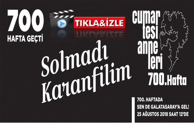 Şenol Morgül Cumartesi Anneleri için söyledi...Bugün Galatasaray'dayız...