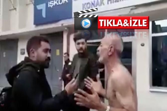 """İzmir İŞKUR önünde soyunarak bağırdı: """"İşçiyim ben, aç işçi!"""""""